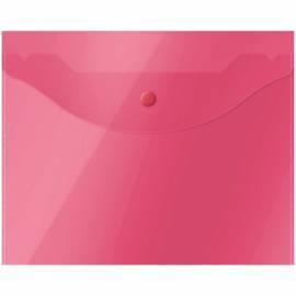 Папка-конверт на кнопке OfficeSpace, А5 (190*240мм), 150мкм, полупрозрачная, красная