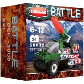 """Конструктор пластиковый Zormaer """"Battle. ПВО-2000'', 24 элемента, картонная коробка"""