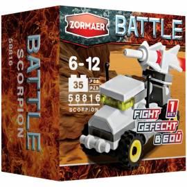 """Конструктор пластиковый Zormaer """"Battle. Скорпион'', 35 элементов, картонная коробка"""