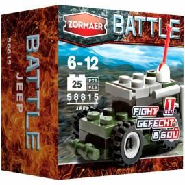"""Конструктор пластиковый Zormaer """"Battle. Джип'', 25 элементов, картонная коробка"""