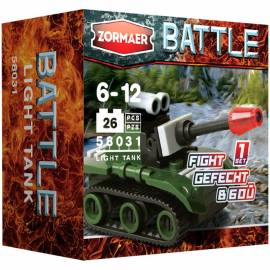 """Конструктор пластиковый Zormaer """"Battle. Легкий танк'', 26 элементов, картонная коробка"""
