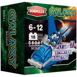 """Конструктор пластиковый Zormaer """"Galaxy. Скаут'', 18 элементов, картонная коробка"""
