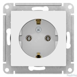 Schneider-electric ATN000143 ATLASDESIGN РОЗЕТКА с заземлением, 16А, механизм, БЕЛЫЙ