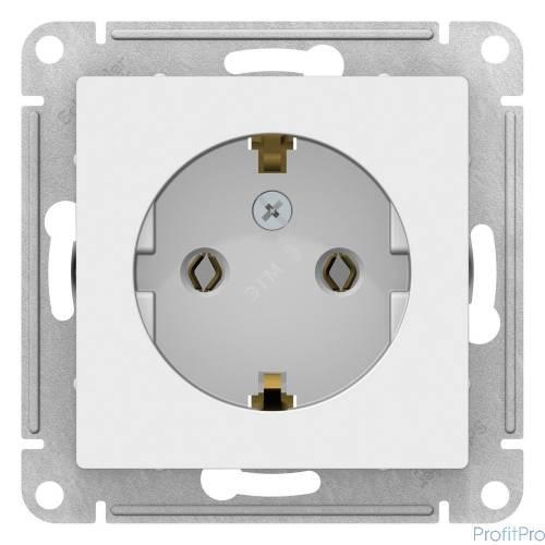 Schneider-electric ATN000143 ATLASDESIGN РОЗЕТКА с заземлением, 16А,  механизм, БЕЛЫЙ c817b27527c