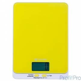803-4-КТ Кухонные весы Kitfort, Максимальный вес: 5 кг. жёлтые