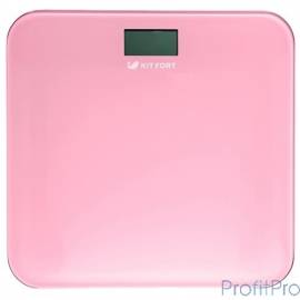 804-2-КТ Напольные весы Kitfort, Максимальный вес: 150 кг. розовые
