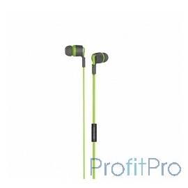 MICROLAB Наушники с микрофоном K768P gray/green, 20Hz - 20KHz