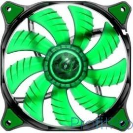 Cougar CFD120 GREEN Вентилятор CFD120 GREEN 120x 120x 25мм (40шт./кор, пит. от мат.платы и БП, зелёная подсветка, 1200об/мин) (