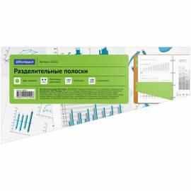 Разделитель листов OfficeSpace 230*120мм, трапеция, 100шт., без индексации, зеленый, картонный