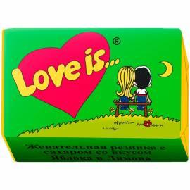 """Жевательная резинка """"Love is..."""", яблоко-лимон"""