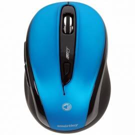 Мышь беспроводная Smartbuy 612AG, бесшумная работа кнопок, синий, 5btn+Roll
