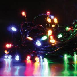 Электрогирлянда уличная светодиодная 60 ламп, многоцветный, 8 функций, 5,9м + 3м
