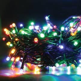 Электрогирлянда уличная светодиодная 180 ламп, многоцветный, 8 функций, 17,9м + 5м