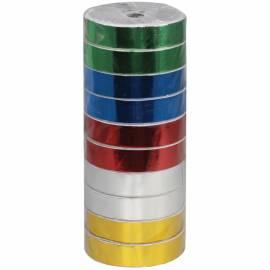 Упаковочная металлизированная лента, Академия Групп, 7,5м*18мм, ассорти