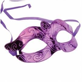 Маска карнавальная пластиковая, фиолетовая