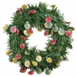 Венок новогодний, зеленый, диаметр 40см