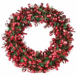 Венок новогодний, красно-зеленый, диаметр 28см