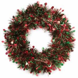 Венок новогодний, зеленый, диаметр 24см