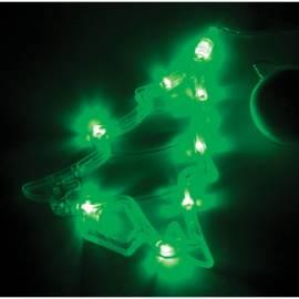 """Фигура светодиодная на батарейках """"Елочка"""" на присоске с подвесом, 19*16см, зеленый"""