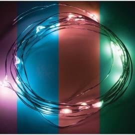 Электрогирлянда светодиодная на батарейках Роса, 20 ламп, мультколор RGB, 2м