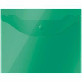 Папка-конверт на кнопке OfficeSpace А5 (190*240мм), 150мкм, полупрозрачная, зеленая