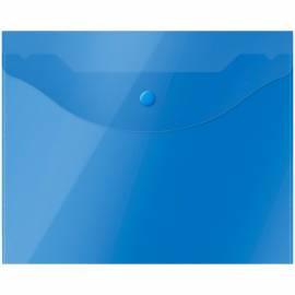 Папка-конверт на кнопке OfficeSpace А5 (190*240мм), 150мкм, полупрозрачная, синяя