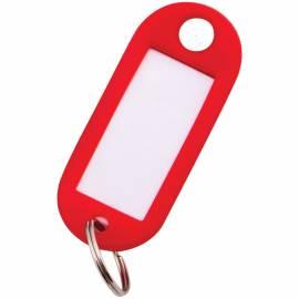 Набор брелоков для ключей OfficeSpace, 52мм, 10шт., красные