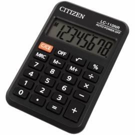 Калькулятор карманный Citizen LC-110NR, 8 разр., питание от батарейки, 58*88*11мм, черный