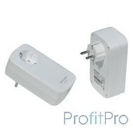 TP-Link TL-PA8010P KIT AV1300 Комплект гигабитных адаптеров Powerline со встроенной розеткой
