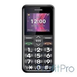 TEXET TM-101 Мобильный телефон цвет черный