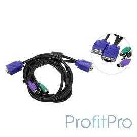 ProCase [CE0300] Кабель 3.0м PS/2 + USB для KVM переключателей Procase серии Е