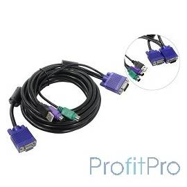 ProCase [CE0500] Кабель 5.0м PS/2 + USB для KVM переключателей Procase серии Е