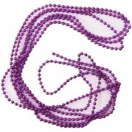 Бусы-шарики 4мм 2,7м, фиолетовый