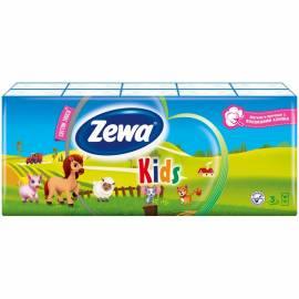 """Платки бумажные носовые Zewa """"Kids"""", детские, 10 пачек по 10шт."""