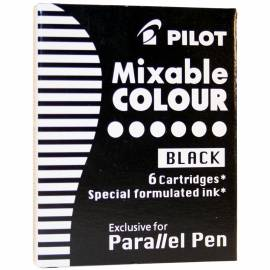 """Картриджи с тушью Pilot """"Parallel Pen"""" черные, 6шт., картонная коробка"""