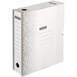 """Короб архивный с клапаном OfficeSpace """"Standard"""" плотный, микрогофрокартон, 75мм, белый, до 700л."""