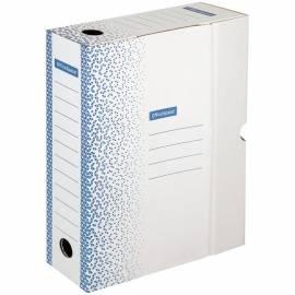 """Короб архивный с клапаном OfficeSpace """"Standard"""" плотный, микрогофрокартон, 75мм, синий, до 700л."""