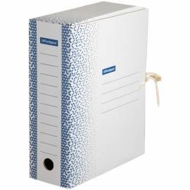 """Папка архивная из микрогофрокартона OfficeSpace """"Standard"""" плотная,с завязками,100мм,синяя, до900л."""