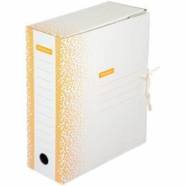 """Папка архивная из микрогофрокартона OfficeSpace """"Standard"""" плотная,с завязками,100мм,оранжевая, 900л"""