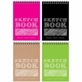 """Скетчбук-блокнот для эскизов и зарисовок 60л. А6 на гребне ArtSpace """"Monocolor"""", 120г/м2"""