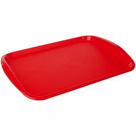 Поднос PlastTeam, прямоугольный, 470*330мм, пластик, красный
