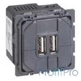 Legrand 67462 Celiane механизм USB- розетки. Двойной черный