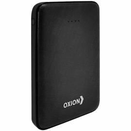 Внешний аккумулятор Oxion PowerBank UltraThin 6000mAh, покр. carbon, индикатор, черный