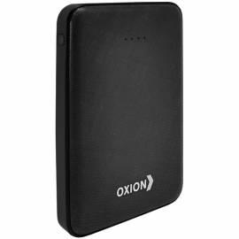 Внешний аккумулятор Oxion Powerbank UltraThin 10000 mAh, покр. carbon, индикатор, черный