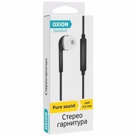 """Наушники-вкладыши с микрофоном Oxion Standard """"HS230BK"""", 1м, черный"""