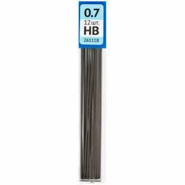 Грифели для механических карандашей OfficeSpace, 12шт., 0,7мм, HB