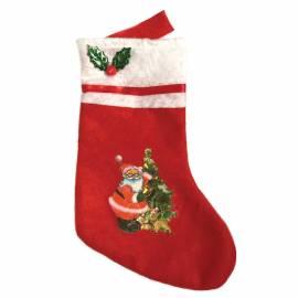 Подарочный Рождественский мешок в форме носка, 24см