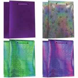 Пакет подарочный 14,6*11,4*6,5см, ArtSpace, Микс 4 цвета, голография