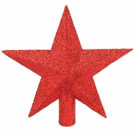 """Верхушка пластиковая """"Звезда"""" 19см, красный"""