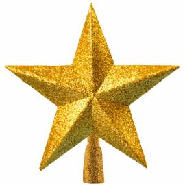 """Верхушка пластиковая """"Звезда"""" 19 см, золотой"""